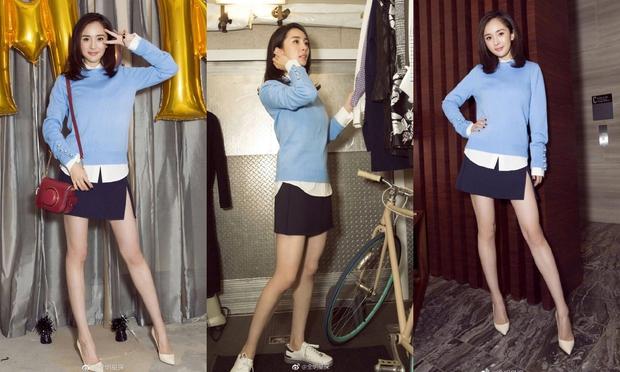 Những màn khoe chân đỉnh cao chứng minh: Dương Mịch chính là nữ hoàng sân bay số 1 Cbiz! - Ảnh 19.