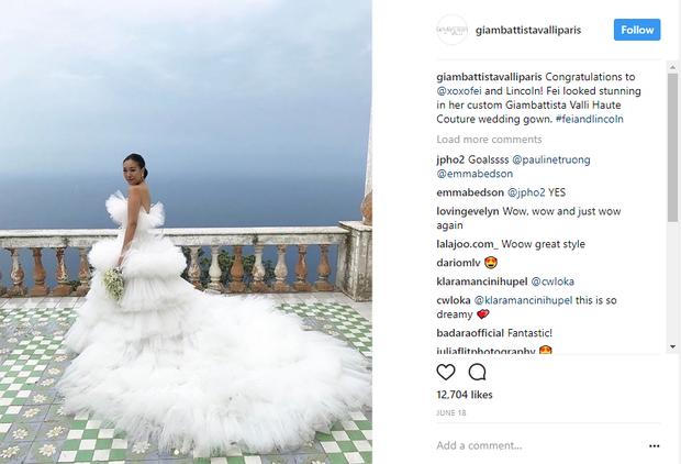 Váy cưới bồng bềnh như mây trắng của fashionista Hong Kong khiến bạn phải thốt lên: Liệu đây có phải mơ? - Ảnh 10.