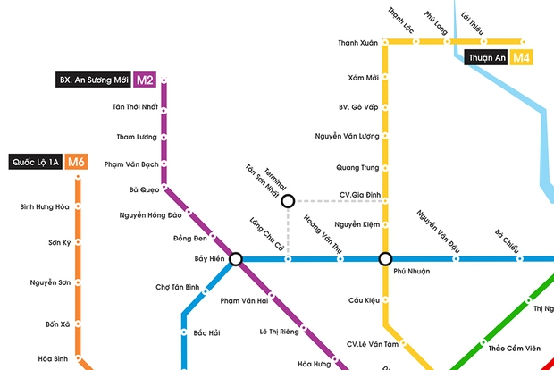Hình ảnh bản đồ 8 tuyến Metro kết nối toàn thành phố: Người Sài Gòn ngóng tới lúc được đi lại tiện lợi, văn minh! - Ảnh 2.