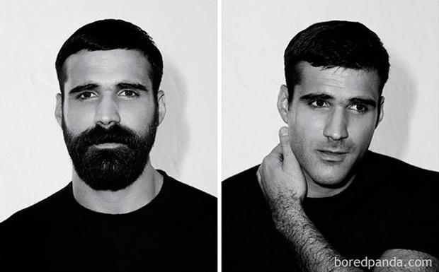 Sửng sốt với loạt ảnh nhan sắc đàn ông thay đổi bất ngờ trước và sau khi cạo râu - Ảnh 23.