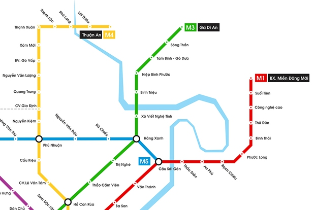 Hình ảnh bản đồ 8 tuyến Metro kết nối toàn thành phố: Người Sài Gòn ngóng tới lúc được đi lại tiện lợi, văn minh! - Ảnh 3.