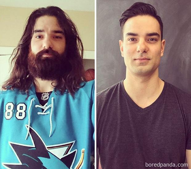 Sửng sốt với loạt ảnh nhan sắc đàn ông thay đổi bất ngờ trước và sau khi cạo râu - Ảnh 31.