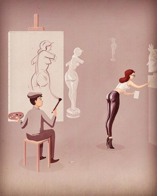 Những bức tranh biếm họa về con người khiến chúng ta phải giật mình suy ngẫm - Ảnh 15.