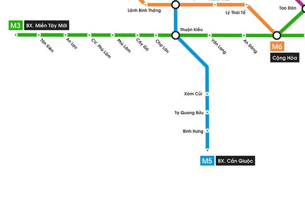 Hình ảnh bản đồ 8 tuyến Metro kết nối toàn thành phố: Người Sài Gòn ngóng tới lúc được đi lại tiện lợi, văn minh! - Ảnh 4.