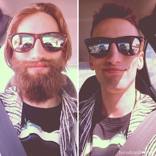 Sửng sốt với loạt ảnh nhan sắc đàn ông thay đổi bất ngờ trước và sau khi cạo râu - Ảnh 33.