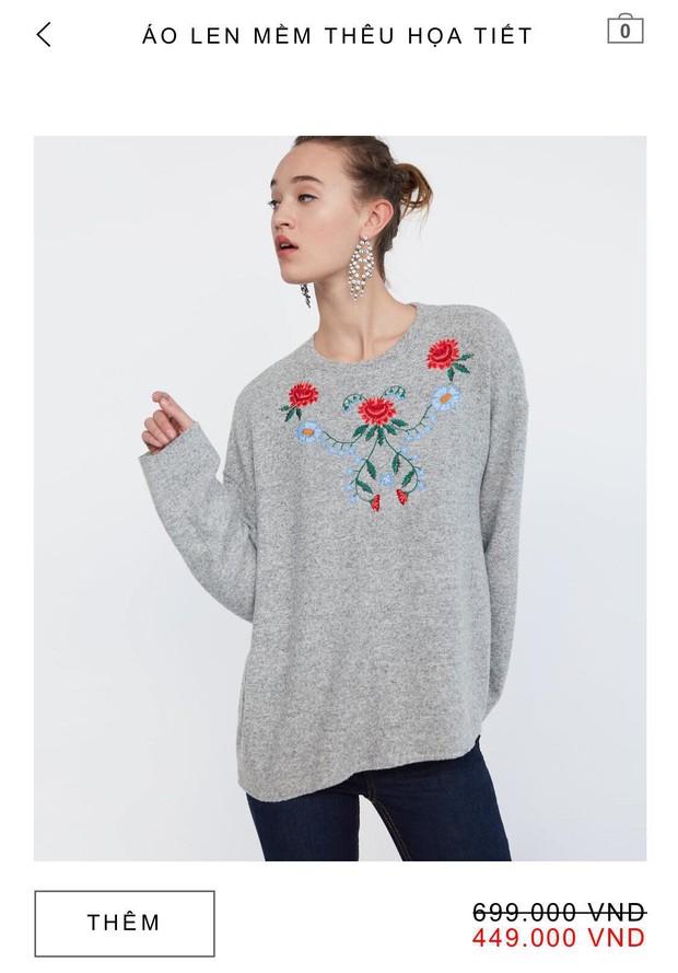 14 mẫu áo len, áo nỉ dưới 500.000 VNĐ trendy đáng sắm nhất đợt sale này của Zara - Ảnh 3.