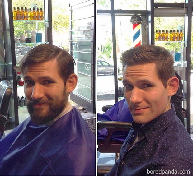 Sửng sốt với loạt ảnh nhan sắc đàn ông thay đổi bất ngờ trước và sau khi cạo râu - Ảnh 35.