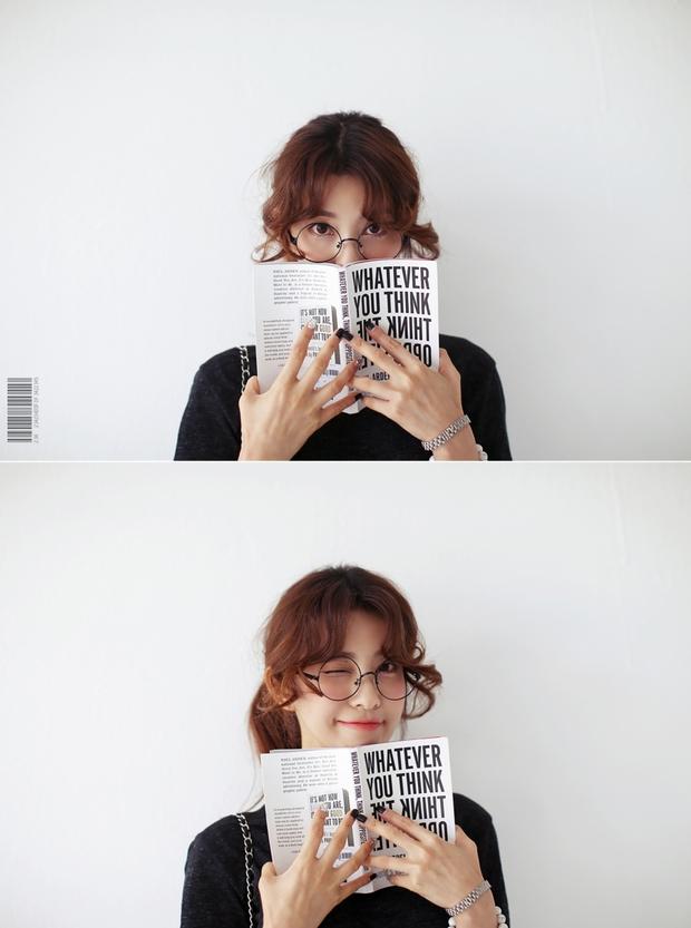 Con gái châu Á đang đồng loạt diện kính cận gọng tròn mọt sách cute siêu cấp - Ảnh 18.