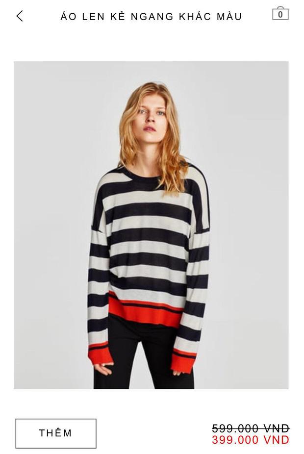 14 mẫu áo len, áo nỉ dưới 500.000 VNĐ trendy đáng sắm nhất đợt sale này của Zara - Ảnh 14.