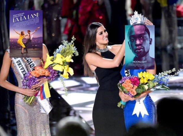 Cười không nhặt được mồm với ảnh chế MC trao nhầm giải cho La La Land tại Oscar 2017 - Ảnh 2.