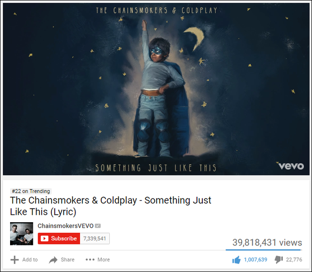 The Chainsmokers phá kỷ lục cho Lyric Video được xem nhiều nhất YouTube trong 24 giờ - Ảnh 3.