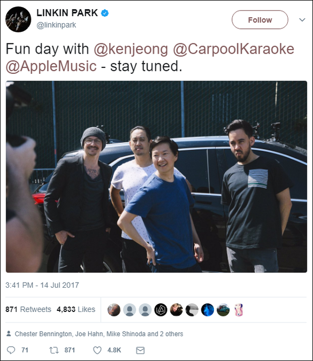 Linkin Park đã quay Carpool Karaoke trước khi Chester qua đời - Ảnh 1.