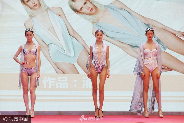Chất lượng nghèo nàn của dàn người mẫu áo tắm quốc tế Trung Quốc khiến dân tình ngán ngẩm - Ảnh 3.