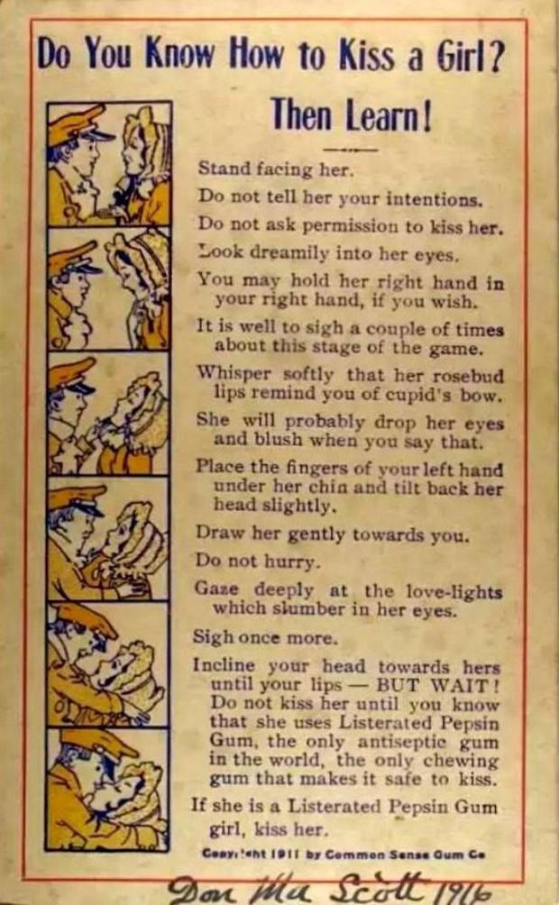 Bí kíp dạy hôn từ 100 năm trước và bài học Marketing đến bây giờ vẫn được áp dụng - Ảnh 1.