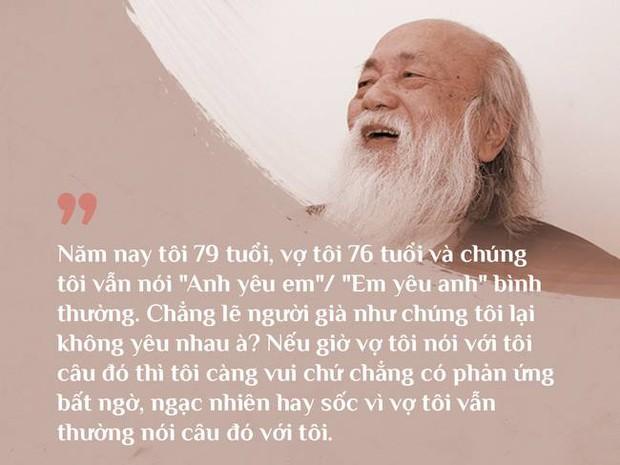 Cách vợ chồng thầy Văn Như Cương ở bên nhau trong những phút yếu mệt: 80 tuổi thì tình yêu cũng vẫn mãi xanh! - Ảnh 3.