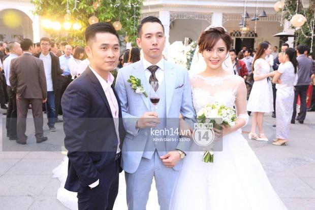 ĐỘC QUYỀN: Tú Linh mặc váy cô dâu, rạng rỡ trong tiệc cưới buổi tối - Ảnh 7.