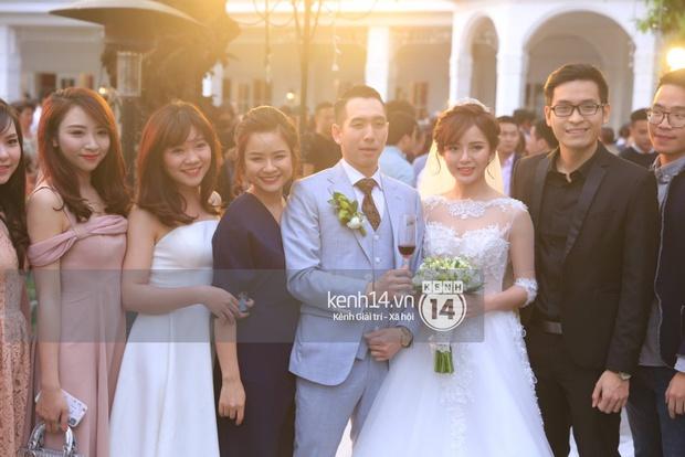 ĐỘC QUYỀN: Tú Linh mặc váy cô dâu, rạng rỡ trong tiệc cưới buổi tối - Ảnh 6.