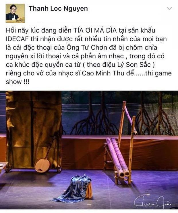 NSƯT Thành Lộc bức xúc khi vai diễn của mình bị chôm chỉa để thi gameshow - Ảnh 5.