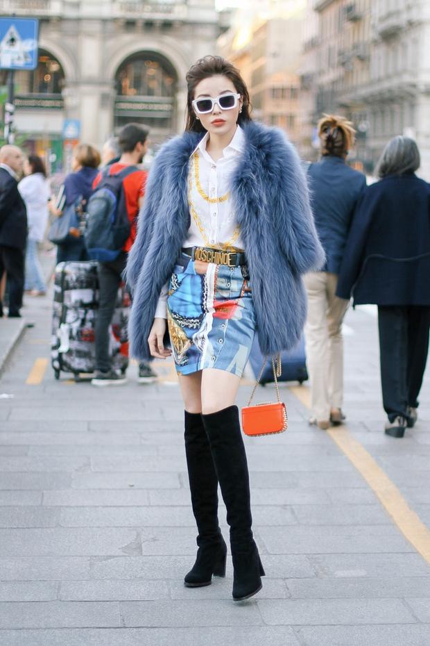 Tới Milan Fashion Week, Kỳ Duyên đầu tư kỹ lưỡng và xuất hiện ngay trên hàng ghế đầu show Moschino - Ảnh 4.