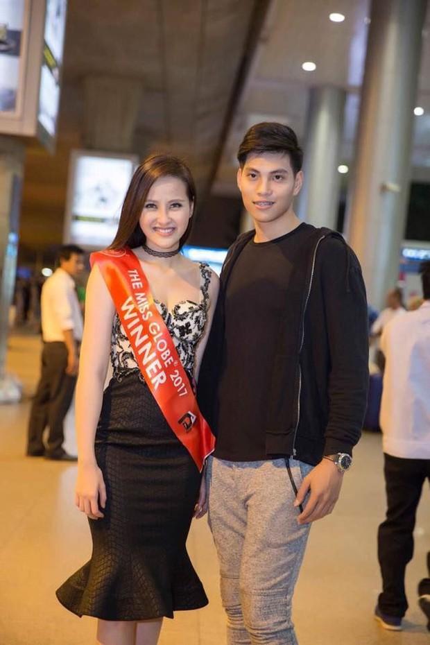 Sau hơn 1 tuần đăng quang Miss Globe 2017, Khánh Ngân rạng rỡ trở về nước - Ảnh 1.