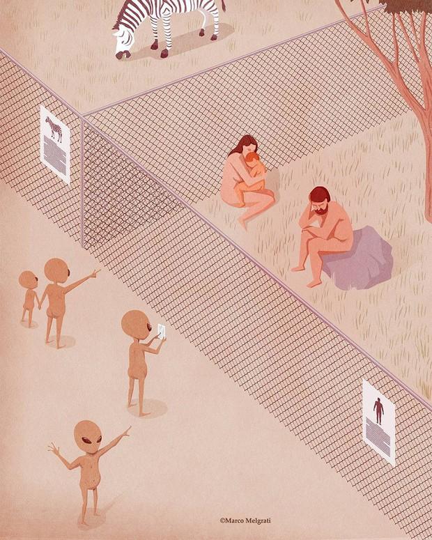 Những bức tranh biếm họa về con người khiến chúng ta phải giật mình suy ngẫm - Ảnh 35.