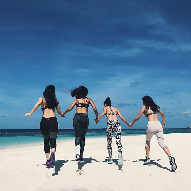 Tưởng đến Maldives nghỉ dưỡng, nào ngờ Châu Bùi được làm gương mặt thương hiệu cho Reebok - Ảnh 2.