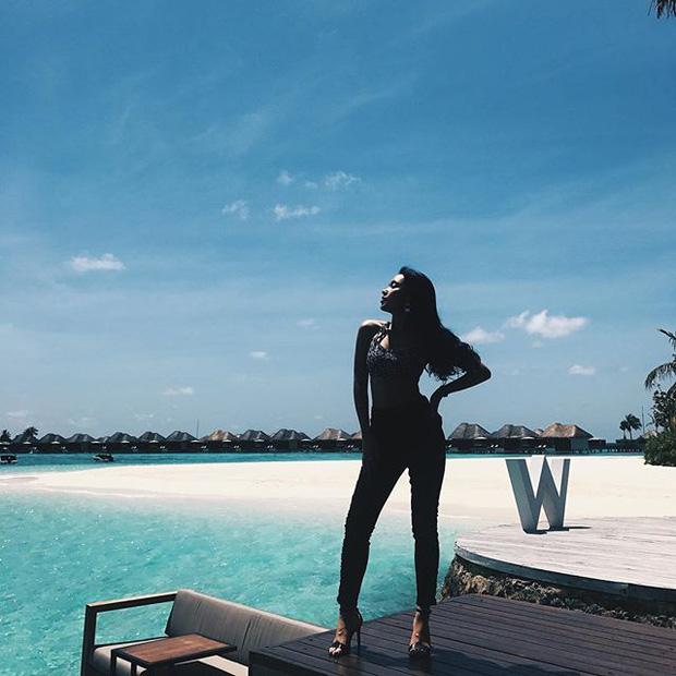 Tưởng đến Maldives nghỉ dưỡng, nào ngờ Châu Bùi được làm gương mặt thương hiệu cho Reebok - Ảnh 4.
