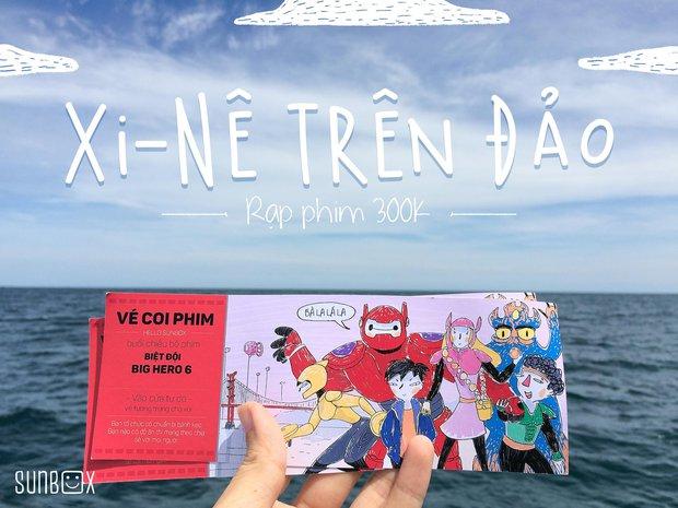 Rạp phim 300k vượt 300km ra biển, đem ciné cho tụi con nít nghèo trên đảo Hòn Chuối - Ảnh 1.