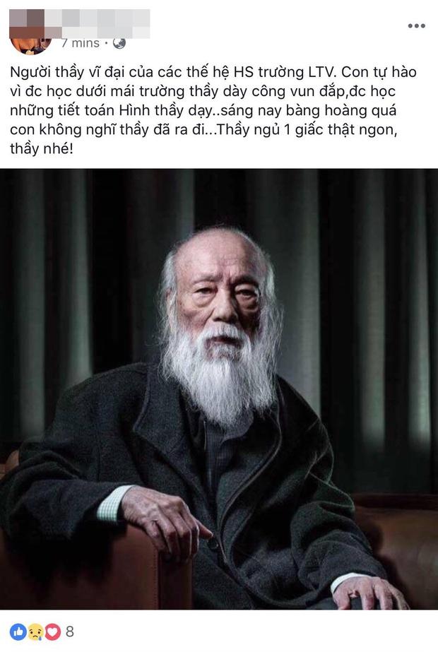 Các thế hệ học trò trường Lương Thế Vinh bày tỏ niềm thương tiếc trước sự ra đi của thầy Văn Như Cương - Ảnh 2.