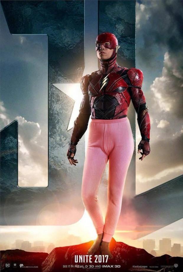Cười lăn khi siêu anh hùng Justice League bận đồ không giống ai đi cứu thế giới - Ảnh 3.