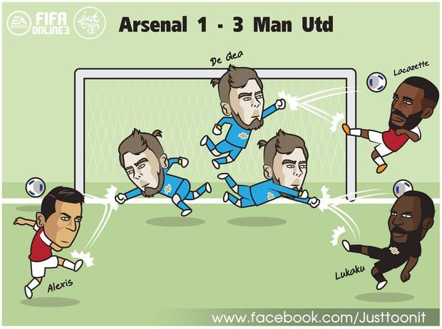 De Gea được triệu vào Avengers khi cản 15 cú sút của Arsenal lẫn... Lukaku - Ảnh 5.