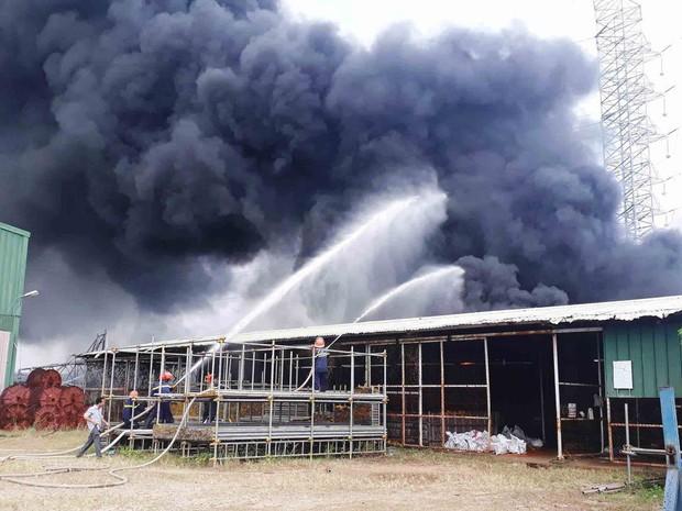 Vũng Tàu: Cháy lớn tại xưởng nhựa, cột khói khổng lồ cao hàng chục mét - Ảnh 4.
