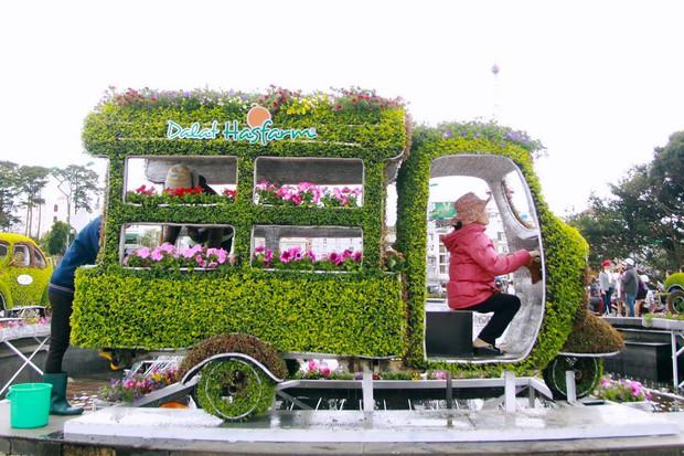Đường hoa rực rỡ và đẹp mắt trước thềm Festival hoa Đà Lạt thu hút khách du lịch - Ảnh 2.