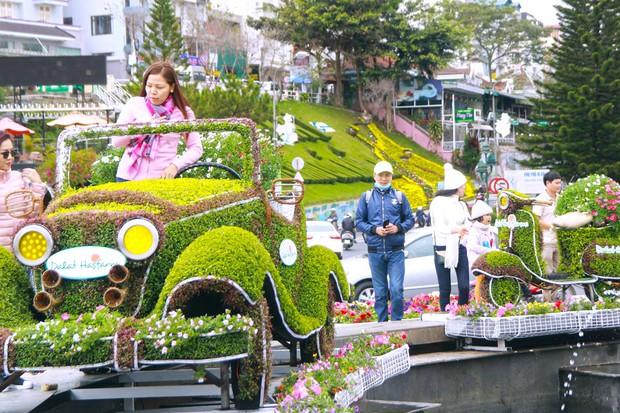 Đường hoa rực rỡ và đẹp mắt trước thềm Festival hoa Đà Lạt thu hút khách du lịch - Ảnh 4.