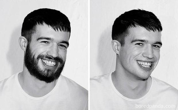Sửng sốt với loạt ảnh nhan sắc đàn ông thay đổi bất ngờ trước và sau khi cạo râu - Ảnh 11.
