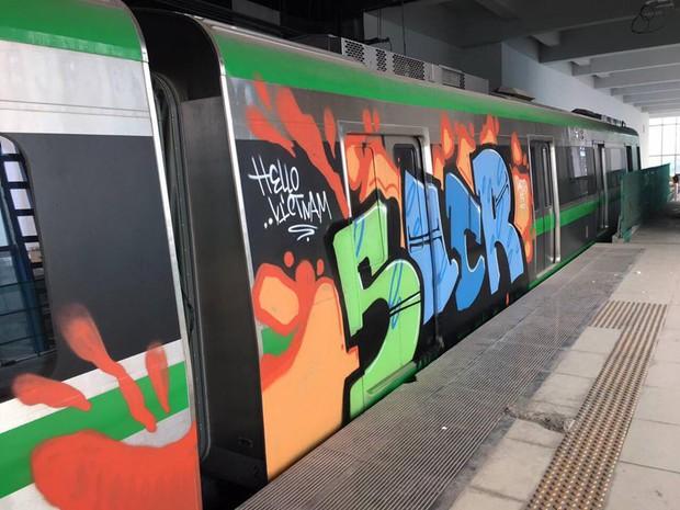 Cảnh sát hình sự vào cuộc truy tìm người bôi bẩn đoàn tàu đường sắt trên cao Cát Linh - Hà Đông bằng hình vẽ graffiti - Ảnh 1.