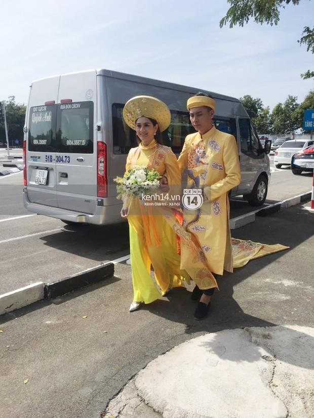 Loạt ảnh cận cảnh cô dâu Lâm Khánh Chi diện áo dài long phụng quét đất về nhà chồng - Ảnh 2.