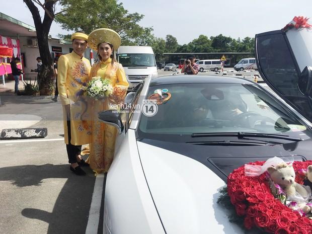 Loạt ảnh cận cảnh cô dâu Lâm Khánh Chi diện áo dài long phụng quét đất về nhà chồng - Ảnh 6.