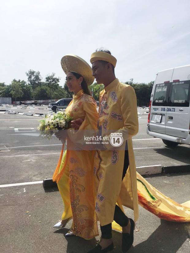 Loạt ảnh cận cảnh cô dâu Lâm Khánh Chi diện áo dài long phụng quét đất về nhà chồng - Ảnh 10.