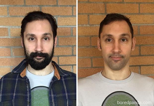 Sửng sốt với loạt ảnh nhan sắc đàn ông thay đổi bất ngờ trước và sau khi cạo râu - Ảnh 7.
