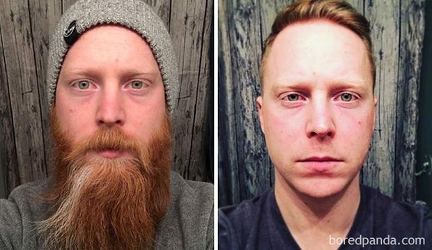 Sửng sốt với loạt ảnh nhan sắc đàn ông thay đổi bất ngờ trước và sau khi cạo râu - Ảnh 17.