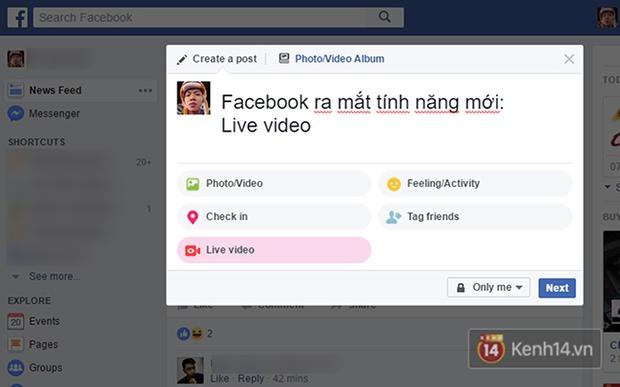 Facebook nền web vừa cập nhật tính năng live stream, giao diện hộp thư cũng thay đổi - Ảnh 4.