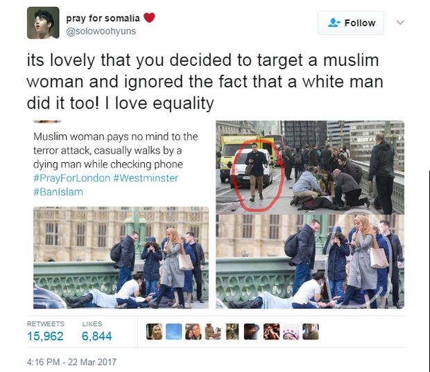 Bức ảnh vạch trần sự phiến diện của làn sóng chỉ trích người phụ nữ Hồi giáo trong bức ảnh nạn nhân vụ khủng bố - Ảnh 4.