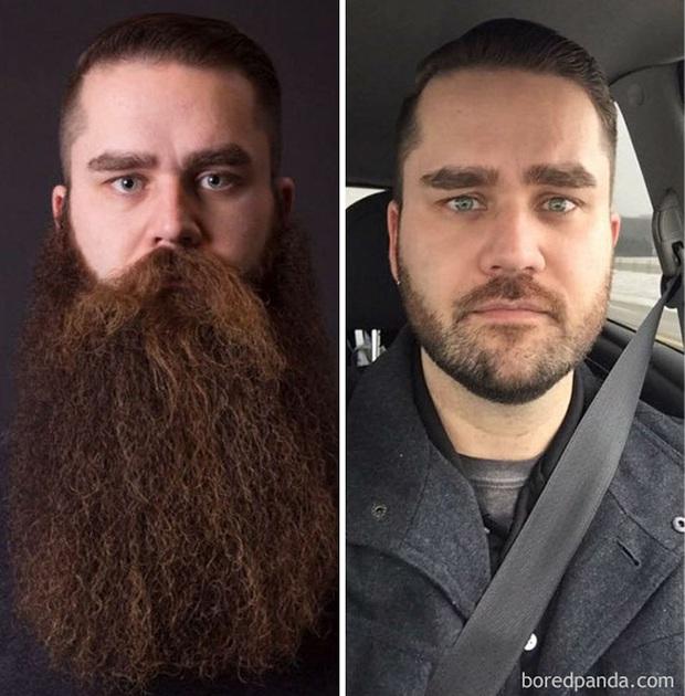 Sửng sốt với loạt ảnh nhan sắc đàn ông thay đổi bất ngờ trước và sau khi cạo râu - Ảnh 9.
