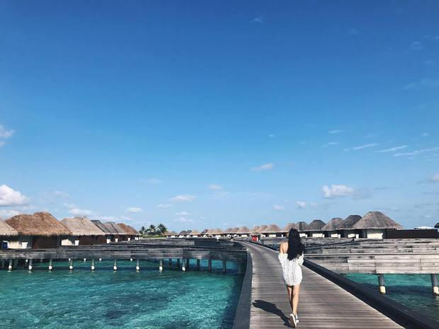 Tưởng đến Maldives nghỉ dưỡng, nào ngờ Châu Bùi được làm gương mặt thương hiệu cho Reebok - Ảnh 7.