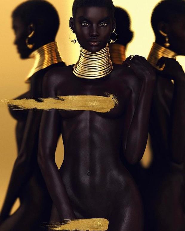 Xôn xao tấm hình nữ người mẫu da đen xinh đẹp nhất mạng xã hội: Người thật hay là mô hình? - Ảnh 3.