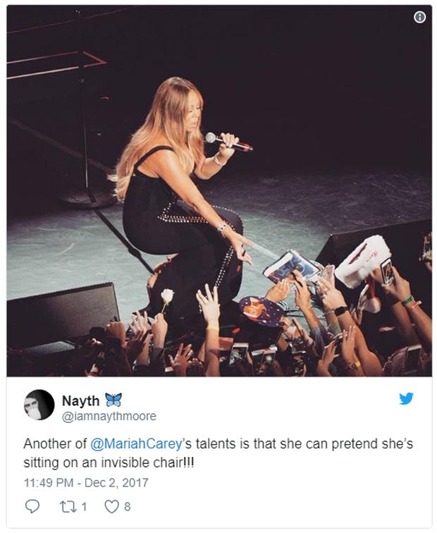 Dân tình hết hồn vì khả năng ngồi ghế vô hình của Mariah Carey - Ảnh 4.