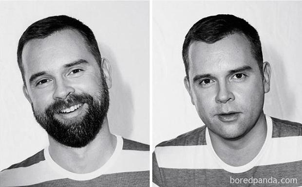 Sửng sốt với loạt ảnh nhan sắc đàn ông thay đổi bất ngờ trước và sau khi cạo râu - Ảnh 5.
