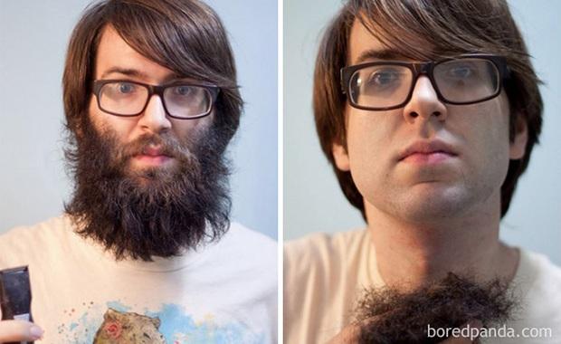 Sửng sốt với loạt ảnh nhan sắc đàn ông thay đổi bất ngờ trước và sau khi cạo râu - Ảnh 25.