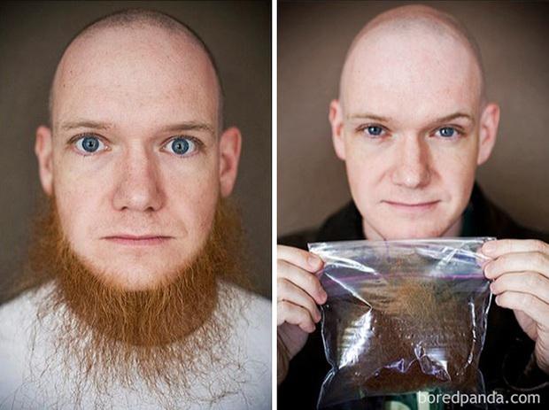 Sửng sốt với loạt ảnh nhan sắc đàn ông thay đổi bất ngờ trước và sau khi cạo râu - Ảnh 1.